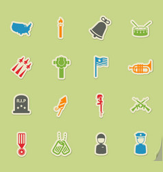 Memorial day simply icons vector