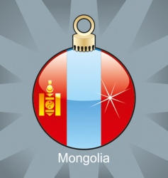 Mongolia flag on bulb vector image