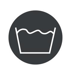 Monochrome round wash icon vector