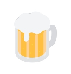 Mug of beer isometric 3d icon vector image