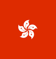 national flag of hong kong vector image