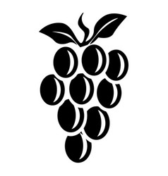 natural grape icon simple style vector image