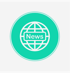 news icon sign symbol vector image