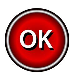 OK icon flat vector image