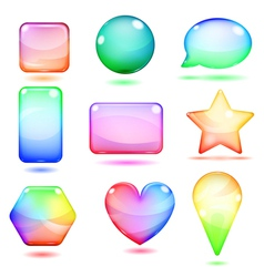 Opaque multicolored glass shapes vector