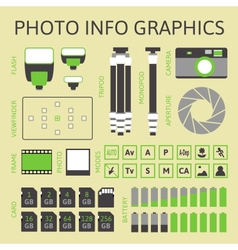 Photo infographics set part one vector image