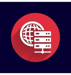 Planet Server icon symbol design workstation world vector