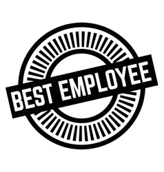 Print best employee stamp on white vector