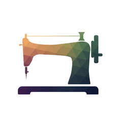 Retro sewing machine icon vector