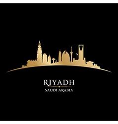 Riyadh Saudi Arabia skyline Detailed silhouette vector image