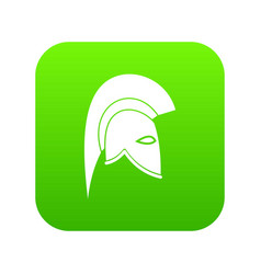 roman helmet icon digital green vector image