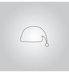 Santa hat icon vector image