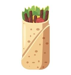 Shawarma icon cartoon style vector