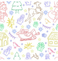 Sketchy seamless pattern hand drawn doodle vector