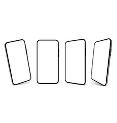 smartphone mockup screen cell phone 3d vector image