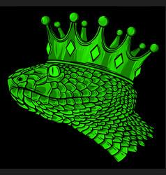 Snake crown on black background design vector