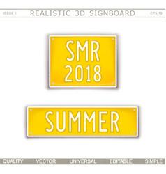 Summer abbreviation - smr 2018 vector