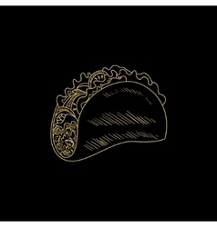Taco Hand Drawn Sketch vector