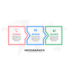 Three steps infographic design template in line vector