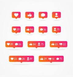 Tooltip speech bubble social network icons vector