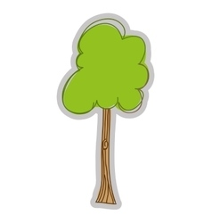 Tree plant drawing isolated icon design vector