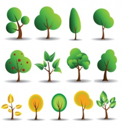tree symbols vector image