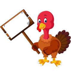 turkey bird cartoon vector image