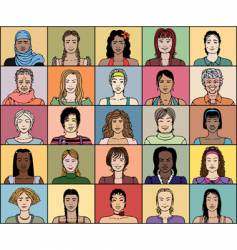 Twenty five adult woman vector