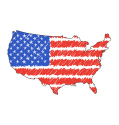 usa map hand drawn sketch concept vector image