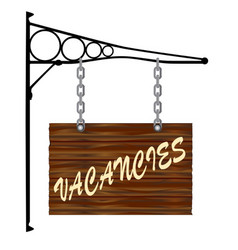 Vacancies hanging sign vector