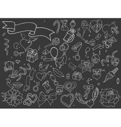 Valentine Day line art design vector