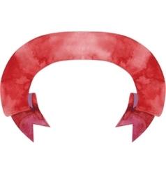 Watercolor dark-red banner vector