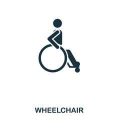 wheelchair icon line style icon design ui vector image