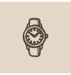 Wrist watch sketch icon vector image