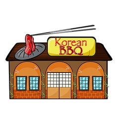 A korean bbq shop vector image vector image