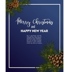 Christmas greeting-card with fir-tree vector image