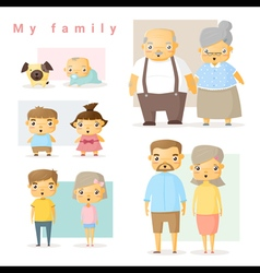 Set of big family vector image