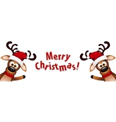 Two funny reindeer on a white background vector