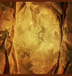 vintage retro background with autumn leaves vector image vector image