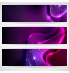 Dark Purple Abstract Banner vector image