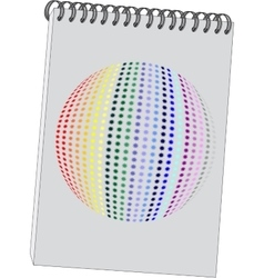 Notes with 3d ball in color 08 vector image vector image