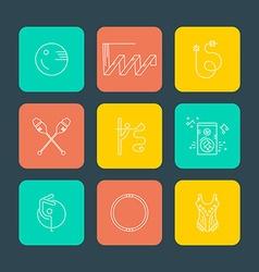 Rhythmic Gymnastics Icons vector image