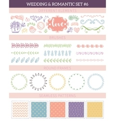Wedding vintage elements big collection vector image