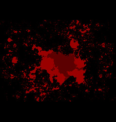 abstract splatter red color on black color vector image vector image