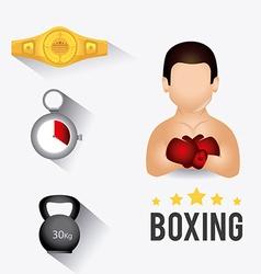 Boxing design vector