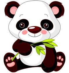 Cartoon panda vector