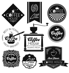 coffee set labels vector image