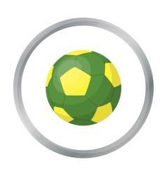 Green soccer ball icon in cartoon style isolated vector image