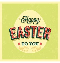Happy Easter typographic design vector image vector image