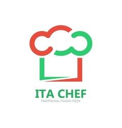Italian chef logo or symbol icon vector image